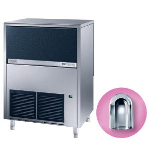 Льдогенератор для кускового льда,  75кг/сут, бункер 30.0кг, вод.охлаждение, корпус нерж.сталь, форма «пальчик» A