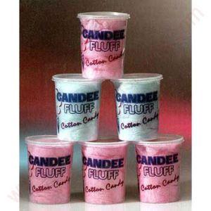 Стакан V 32 пластиковый для сахарной ваты, «Candee Fluff» (100шт.)