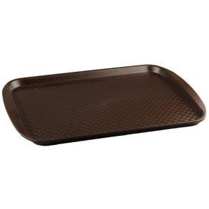 Поднос L 42см w 30см прямоугольный, полистирол горький шоколад