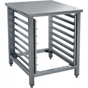 Подставка под пароконвектоматы ПКА 6-1/3П, ПКА-6-1/2П и печи КПП-***,  520х660х800мм, без борта, открытая, нерж.сталь, направляющие для 8GN1/2