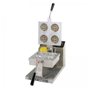 Вафельница электрическая настольная для вафель «бельгийских», 1 поверхность квадратная сталь, 4 сегмента (D80мм), упр.электромех., таймер
