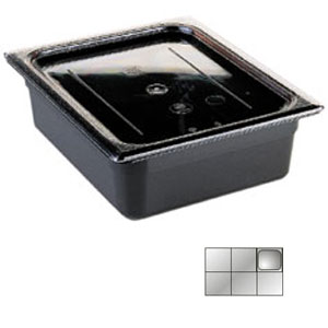 Гастроемкость GN1/6х100, черный поликарбонат