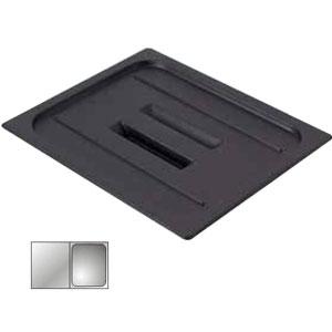 Крышка для гастроемкости GN1/2 с ручк., черный поликарбонат