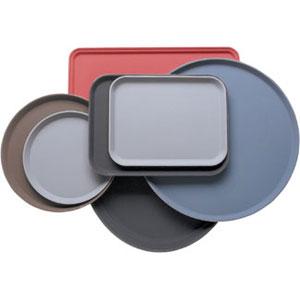 Поднос D 28см прорезиненный стеклопластик сине-серый