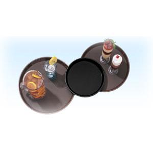 Поднос D 40,5см прорезиненный полипропилен коричневый