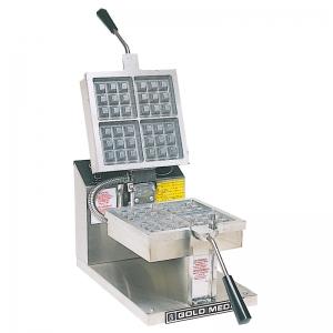 Вафельница электрическая настольная для вафель «бельгийских», 1 поверхность квадратная сталь, 4 сегмента (100х100мм), упр.электромех., таймер