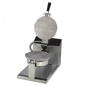 Вафельница электрическая настольная для вафель «датская решетка», 1 поверхность круглая (D210мм) сталь, упр.электромех., таймер