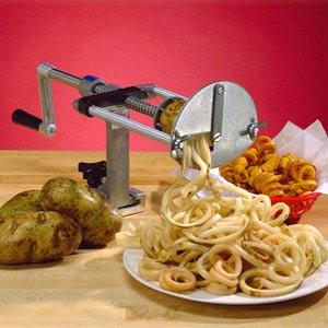 Овощерезка механическая для картофеля, настольная, спираль, горизонтальная резка