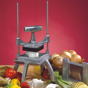 Овощерезка механическая для овощей, настольная, бруски и кубики (срез 6х6мм), вертикальная резка
