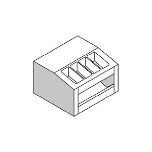 Прилавок раздаточный для хлеба и стол. приборов, L0.58м, настольный, нерж.сталь