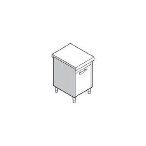 Прилавок раздаточный нейтральный, L0.75м, стенд закрытый, дверь распашная, нерж.сталь