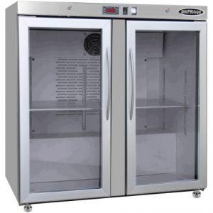 Модуль барный холодильный,  900х563х900мм, без борта, 2 двери стекло, ножки, +2/+8С, нерж.сталь, дин.охл., агрегат сзади, R290