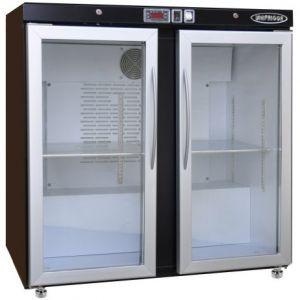 Модуль барный холодильный,  900х563х900мм, без борта, 2 двери стекло, ножки, +2/+8С, темно-серый, дин.охл., агрегат сзади, R290