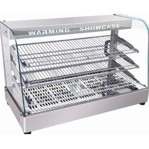 Витрина тепловая настольная, горизонтальная, L0.90м, 3 полки, +30/+85С, нерж.сталь, стекло фронтальное гнутое, увлажнение