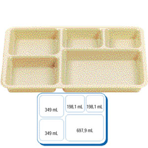 Поднос базовый L 35,6см w 26,8см h 3,3см для доставки питания, полик