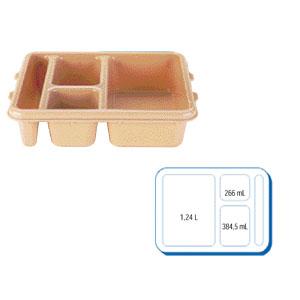 Поднос L 23см w 28см h 6,5см 4 отделения для доставки питания, полик