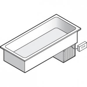 Ванна холодильная встраиваемая, L1.45м, +4/+8С, нерж.сталь, дин.охл., 4GN1/1, выносной пульт упр., линия GISELF Interior
