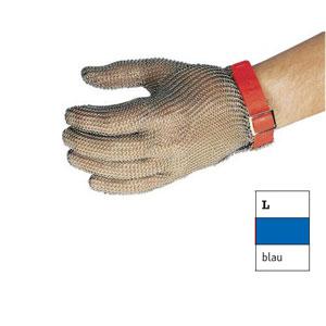 Перчатка кольчужная L (размер 9 - 9,5 - L синий)