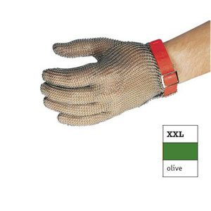 Перчатка кольчужная ХХL (размер 11 - ХХL оливковый)