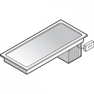 Поверхность холодильная встраиваемая, L1.13м, дин.охл., 3GN1/1, выносной пульт упр.
