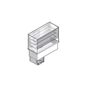 Витрина холодильная встраиваемая, вертикальная, L1.45м, 3 полки-решетки, -1/+7С, нерж.сталь. дин.охл, ванна охл. 4GN1/1, шторка