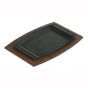 Сковорода L 29 w 19см прямоугольная без ручек, чугун