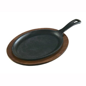 Сковорода L 38,5см w 18.5см овальная для фахитос LODGE, с ручкой, чугун