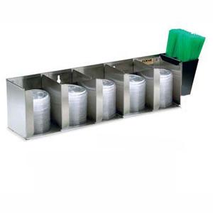 Диспенсер для крышек, настольный/настенный, 5 регулируемых секций, контейнер для трубочек