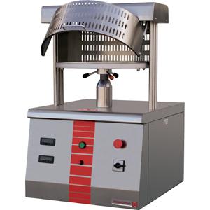 Пресс для пиццы электрический настольный, D450мм, прессование автоматическое, борт, подпекание, нерж.сталь, поверхность верхняя фиксированная
