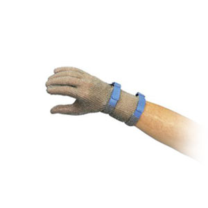 Перчатка кольчужная L (размер 9 - L синий), манжета 8см