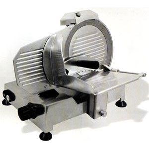 Слайсер электрический наклонный, D ножа 220мм, корпус алюминий, устройство заточное фиксированное, каретка фиксированная