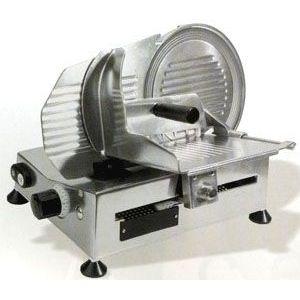Слайсер электрический наклонный, D ножа 220мм, корпус алюминий, устройство заточное съемное, каретка фиксированная