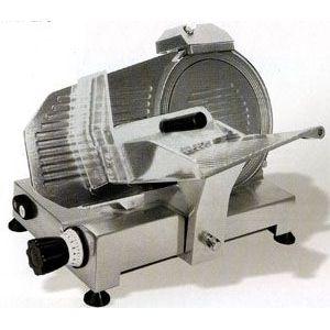 Слайсер электрический наклонный, D ножа 250мм, корпус алюминий, устройство заточное фиксированное, каретка фиксированная