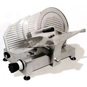 Слайсер электрический наклонный, D ножа 250мм, корпус алюминий, устройство заточное съемное, каретка фиксированная