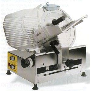 Слайсер электрический наклонный, D ножа 350мм, корпус стальной, устройство заточное фиксированное, каретка разборная