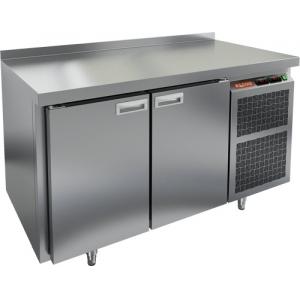 Стол морозильный, GN1/1, L1.39м, борт H50мм, 2 двери глухие, ножки, -10/-18С, нерж.сталь, дин.охл., агрегат справа