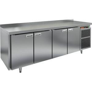 Стол морозильный, GN2/3, L2.28м, борт H50мм, 4 двери глухие, ножки, -10/-18С, нерж.сталь, дин.охл., агрегат справа