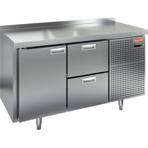 Стол холодильный, GN1/1, L1.39м, борт H50мм, 1 дверь глухая+2 ящика, ножки, -2/+10С, нерж.сталь, дин.охл., агрегат справа