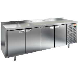 Стол холодильный, GN2/3, L2.28м, борт H50мм,  4 двери глухие, ножки, -2/+10С, нерж.сталь, дин.охл., агрегат справа