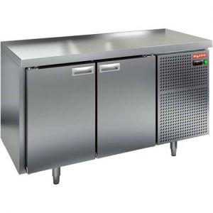Стол морозильный, GN1/1, L1.39м, без борта, 2 двери глухие, ножки, -10/-18С, нерж.сталь, дин.охл., агрегат справа