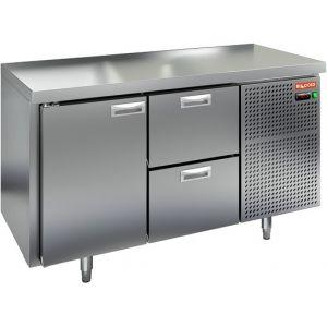 Стол холодильный, GN1/1, L1.39м, без борта, 1 дверь глухая+2 ящика, ножки, -2/+10С, нерж.сталь, дин.охл., агрегат справа