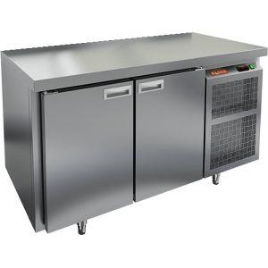 Стол холодильный, GN1/1, L1.39м, без борта, 2 двери глухие, ножки, -2/+10С, нерж.сталь, дин.охл., агрегат справа