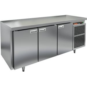 Стол холодильный, GN2/3, L1.84м, без борта, 3 двери глухие, ножки, -2/+10С, нерж.сталь, дин.охл., агрегат справа