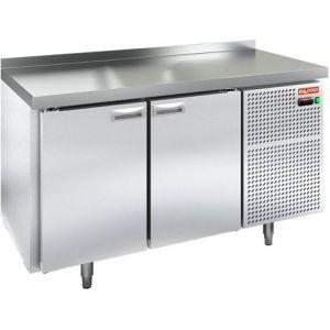 Стол холодильный, GN2/3, L1.39м, борт H50мм, 2 двери глухие, ножки, -2/+10С, пластификат, дин.охл., агрегат правый, столешница нерж.сталь