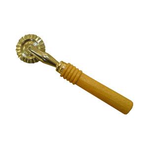 Резак (ролик) кондитерский рифленый, рукоятка дерево