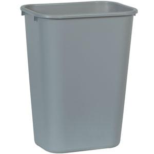 Корзина для мусора L 38,7см w 27,9см h 50,5см 39л, полиэтилен серый