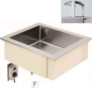 Ванна тепловая, встраив., 2GN1/1-200, паровая, б/устан.каркаса, верх.уровень