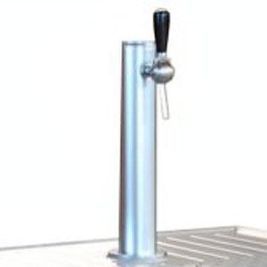 Колонка пивная для стола холодильного для кег и розлива пива, 1 кран, нерж.сталь