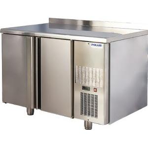 Стол холодильный, L1.20м, борт H60мм, 2 двери глухие, ножки, -2/+10С, нерж.сталь, дин.охл., агрегат справа