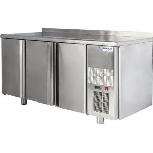 Стол холодильный, L1.63м, борт H60мм, 3 двери глухие, ножки, -2/+10С, нерж.сталь, дин.охл., агрегат справа